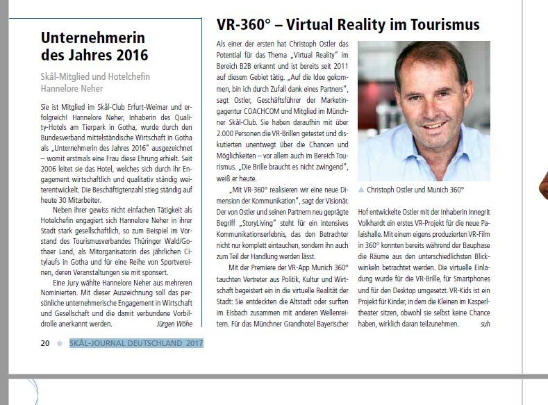 Virtual Reality Tourismus